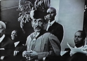 Emperor Haile Selassie I robed to receive an Honorary Doctor of Laws degree at the University of the West Indies on April 22, 1966