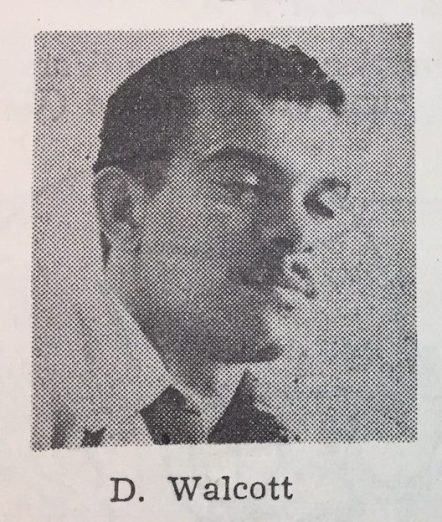 Derek Walcott in The Pelican, 1955