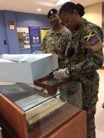 Jamaica Military Museum team led by Curator Capt Staci-Marie Dehaney