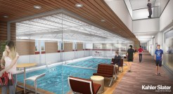 Pool concept at the new Natatorium site includes eight lap lanes and instructional/recreational space.
