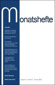 Monatshefte Vol. 111.2 cover