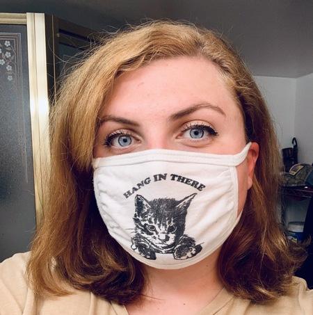 Alexa Henderson wearing a mask