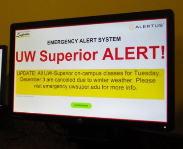 UWS SAFE Alerts are powered by Alertus, a system which can update all computer screens across campus in case of emergency. The pop-up can only be cleared by an acknowledgement.