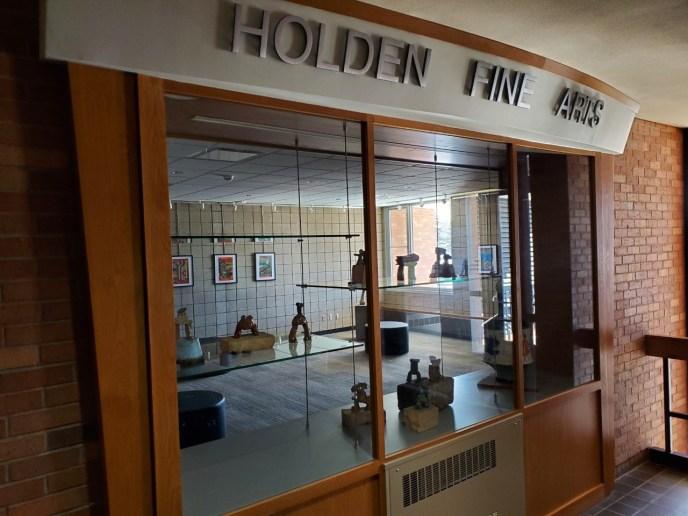 Display Case in Holden Fine Arts Center