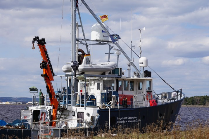 University of Minnesota Duluth's Heron moored at the Lake Superior Research Institute (LSRI) Montreal Pier.
