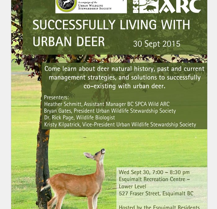 Workshop on Successfully Living with Urban Deer