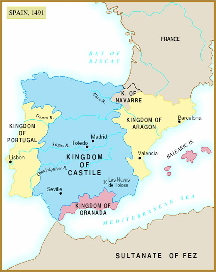 Map Of Spain 1492.Chapter 16 Perspectives Of The True Church 1300 1517 Part Ii