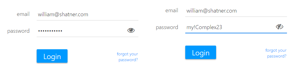 passwords can be easy to enter