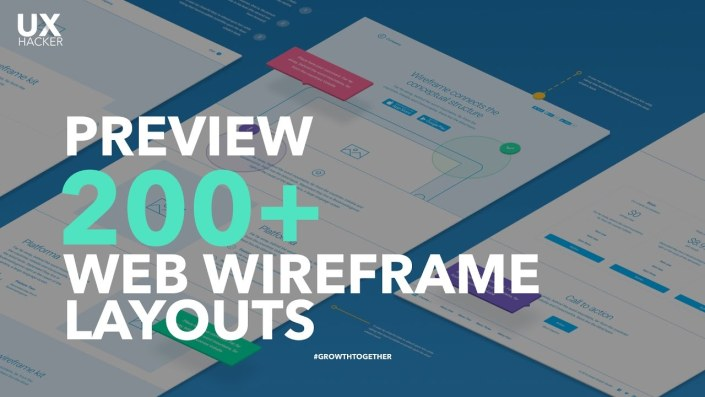 Preview | The Most Complete 200+ Wireframe Layouts for Web [Freebies Available] - UX Hacker