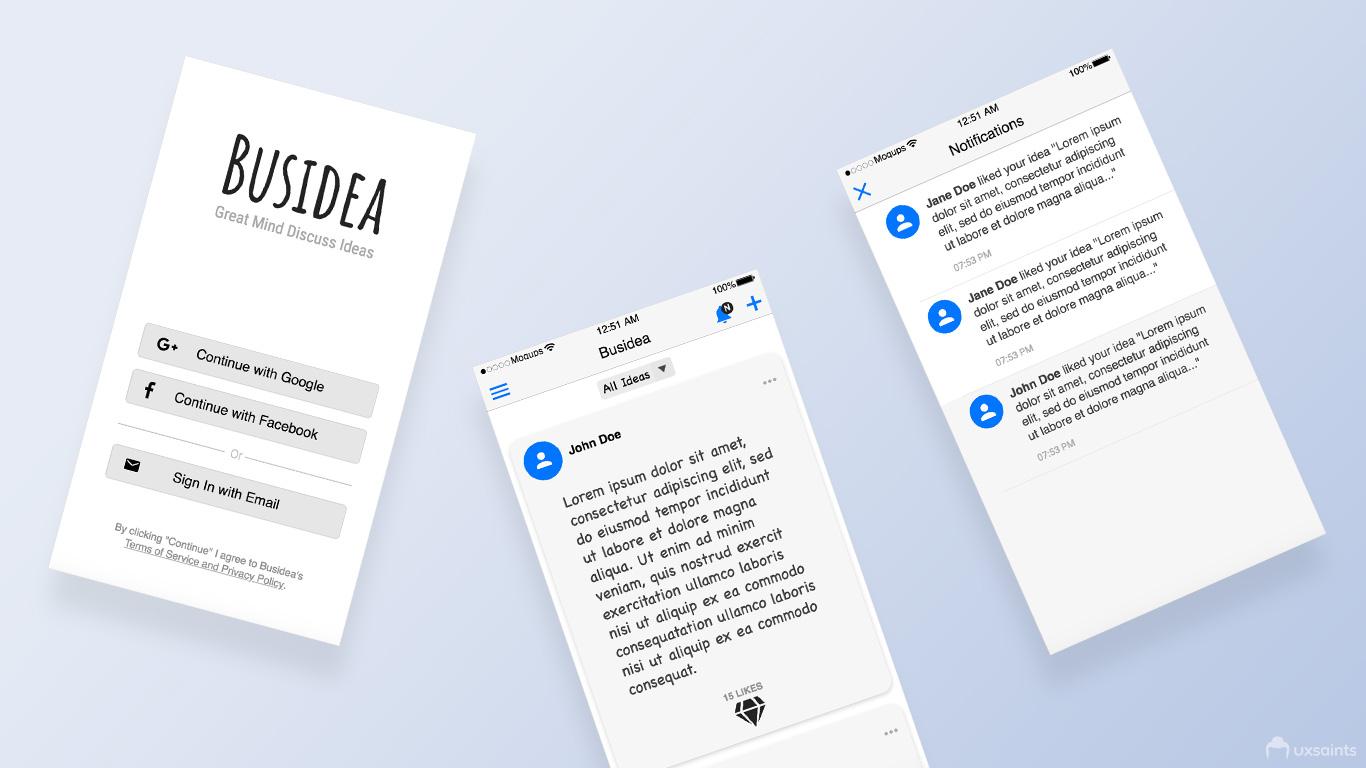 busidea-app-wireframes