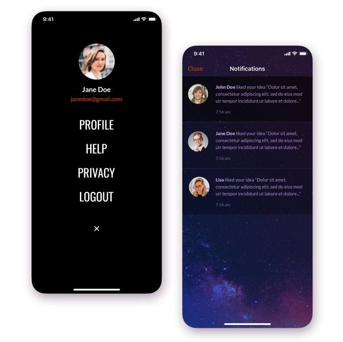 iPhone Sidebar Design