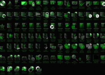 HUD Machine Green 7tsp Icon Pack for Windows 10