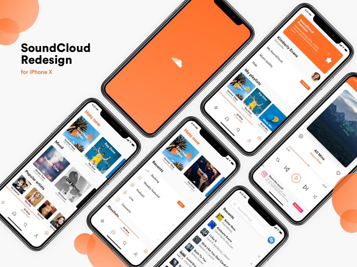 SoundCloud Redesign Ui Inspiration