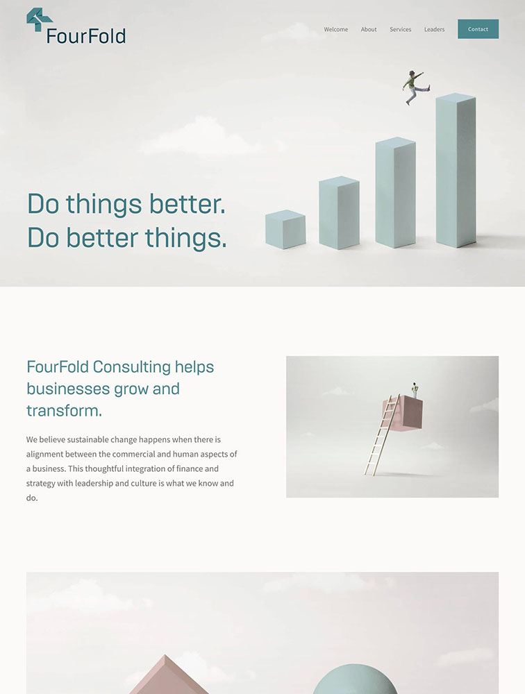 FourFold Consulting Ui Inspiration
