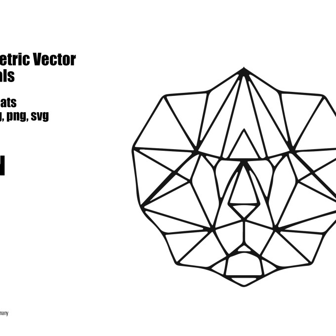 "Geometric Vector Animals ""Lion"" 