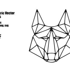 geometric vector animals wolf  [ 2700 x 2000 Pixel ]