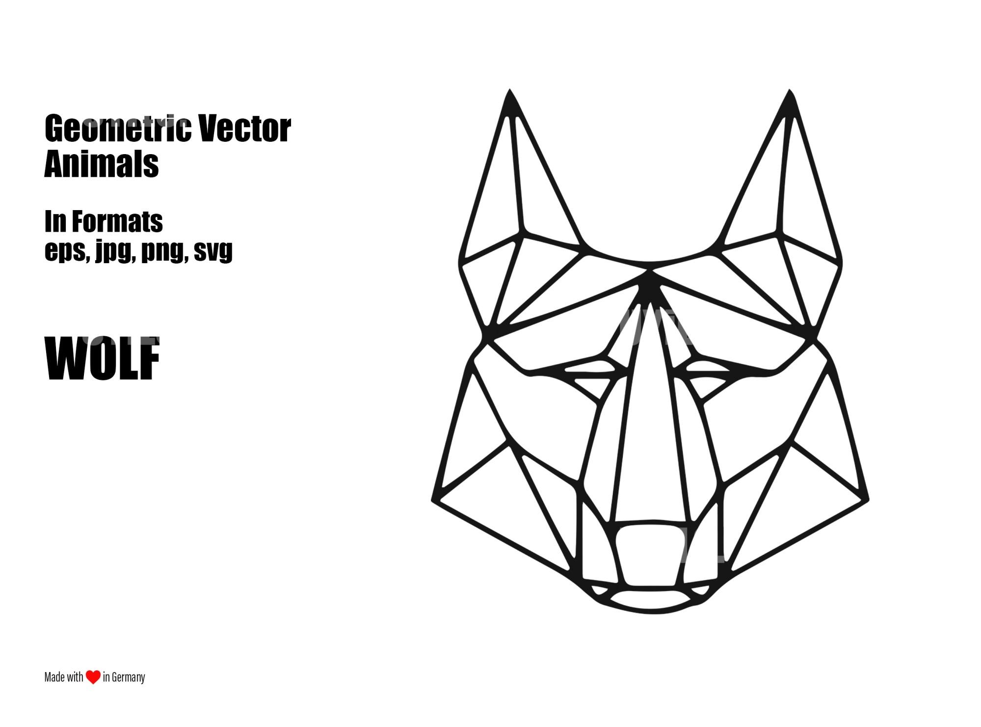 hight resolution of geometric vector animals wolf