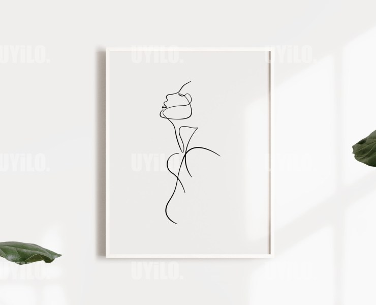 UYiLO-Abstract Figure Naked Woman Line Art