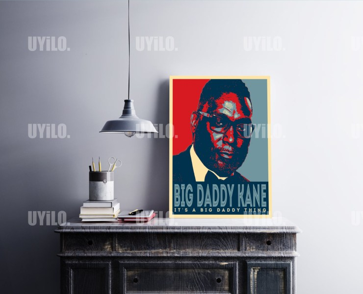Big Daddy Kane in the style of the iconic Barack Obama Hope Poster