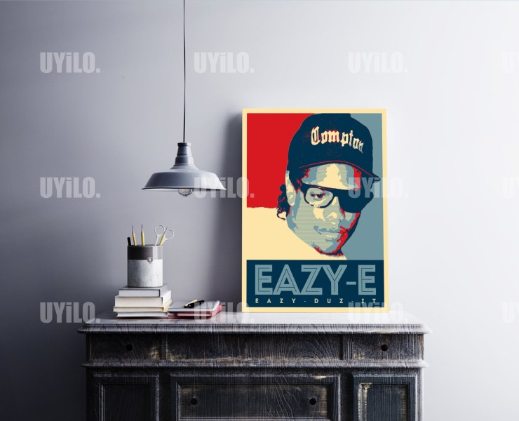 Eazy-E in the style of the iconic Barack Obama Hope Poster