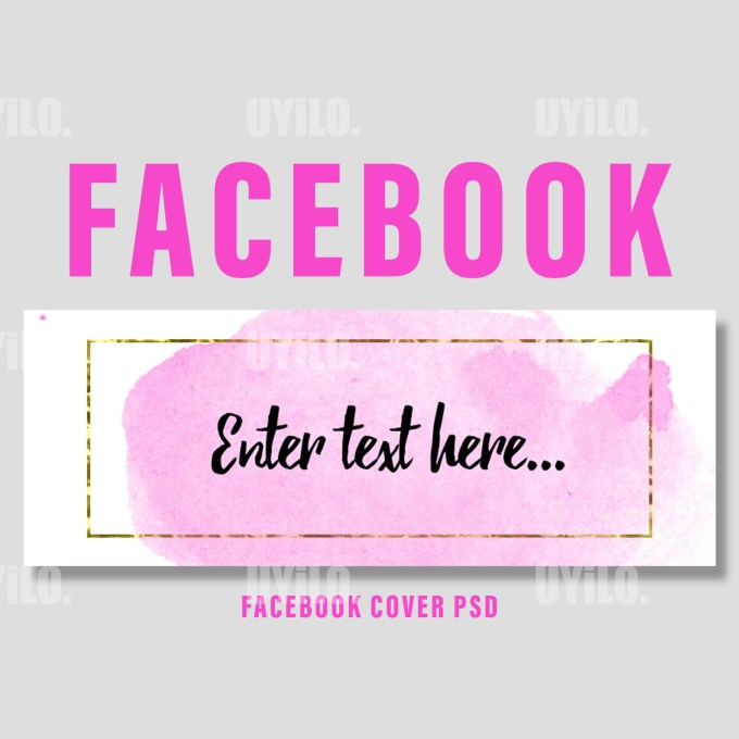 Facebook Cover Template Watercolor Pink Color