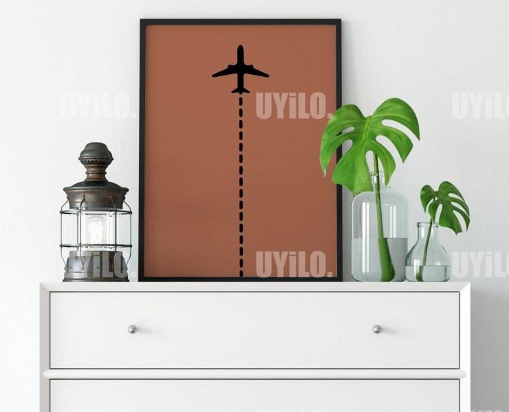 Airplane Line Print, Poster