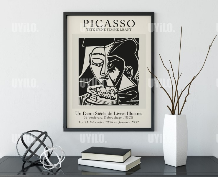 Picasso Exhibition Tete Dune Femme Lisant Wall Art Print