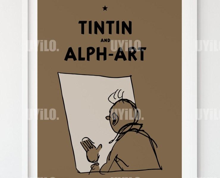 Tin Tin and the Alph-Art,Digital Download, Wall Art Print