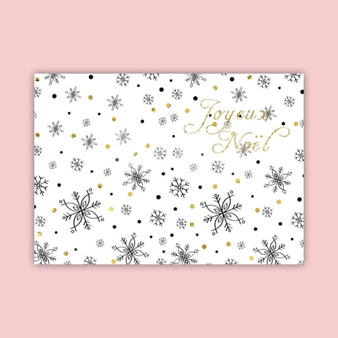Christmas Card Template Ready to Print in French