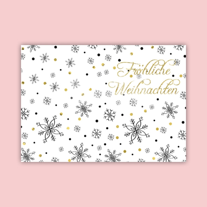 Christmas Card Template Ready to Print in German Language