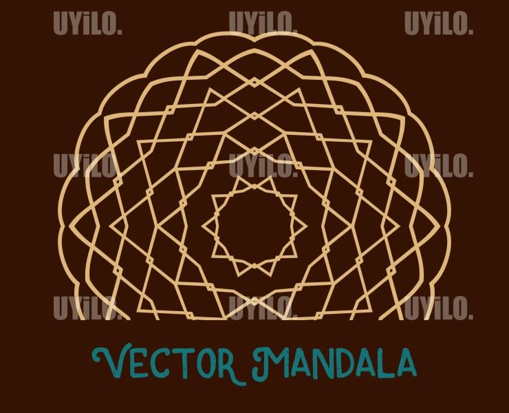 Vector Mandala 17, Instant Download