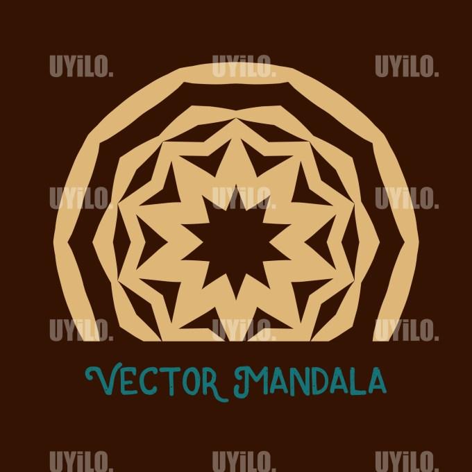 Vector Mandala 34, Instant Download