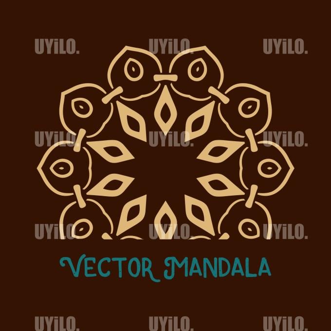 Vector Mandala 38, Instant Download