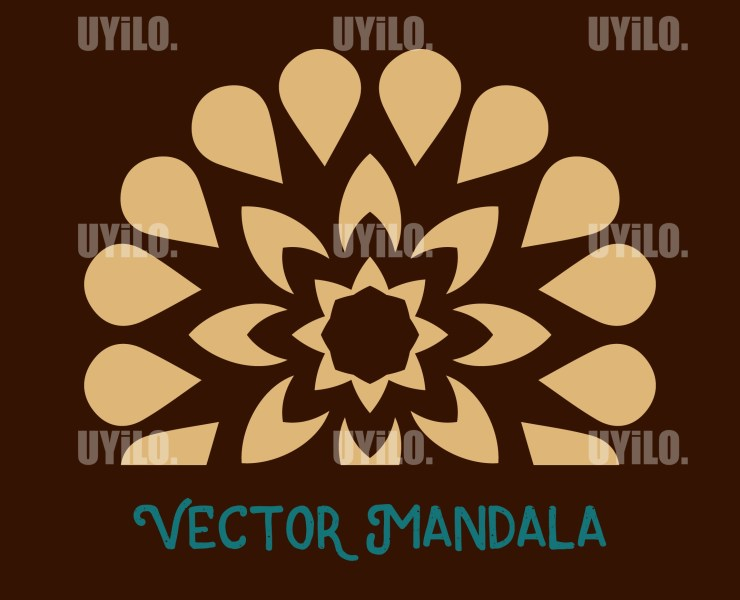 Vector Mandala 50, Instant Download