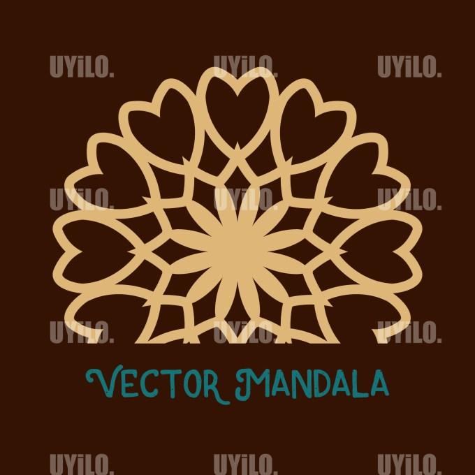 Vector Mandala 72, Instant Download