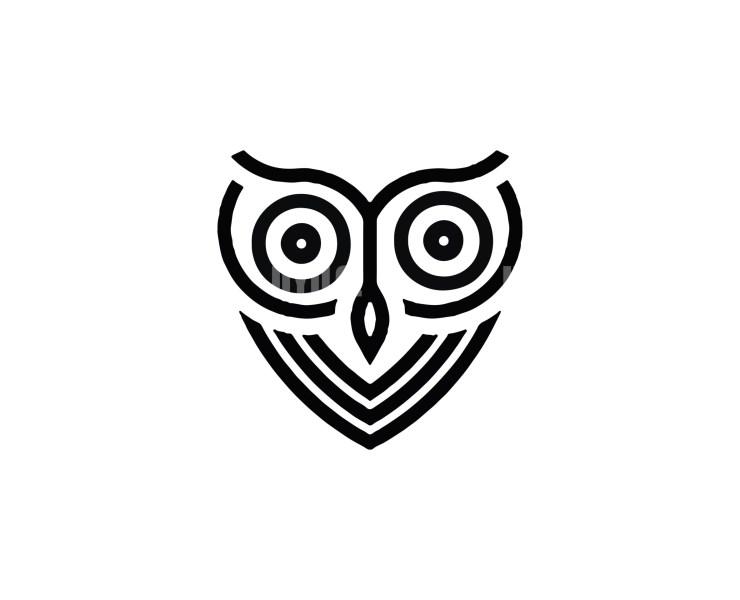 Owl -13 Minimal Logo