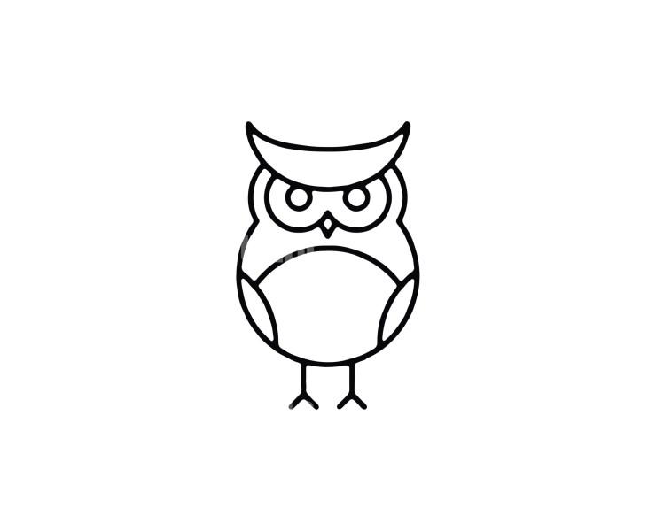 Owl -7 Minimal Logo