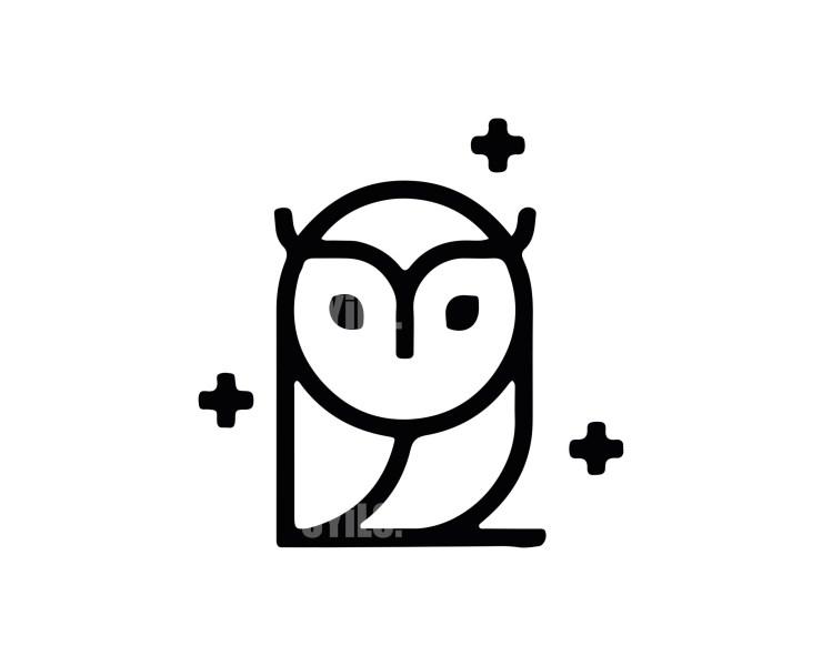 Owl Logo -12 Animals
