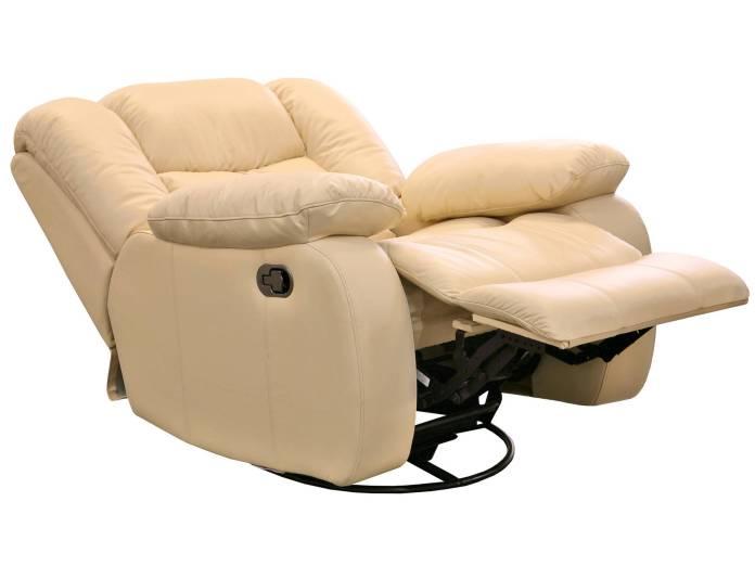Кресло реклайнер. Кожанно белое.