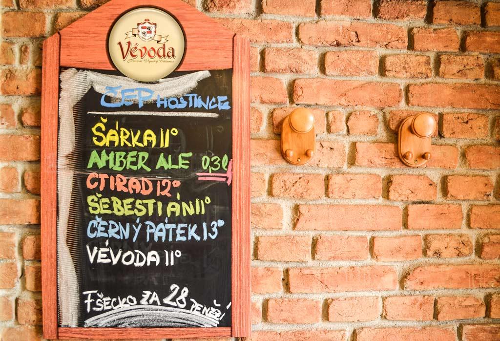 Ассортимент разливного пива в ресторане «Nad Šárkou»