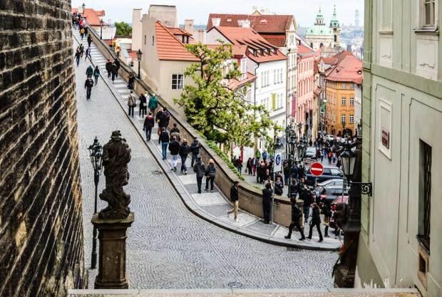 Прага. Нерудова улица