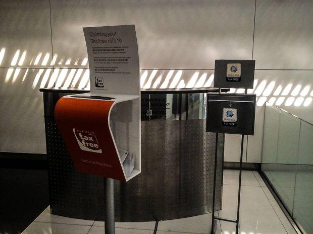 Аэропорт Братиславы. Почтовый ящик Global Blue