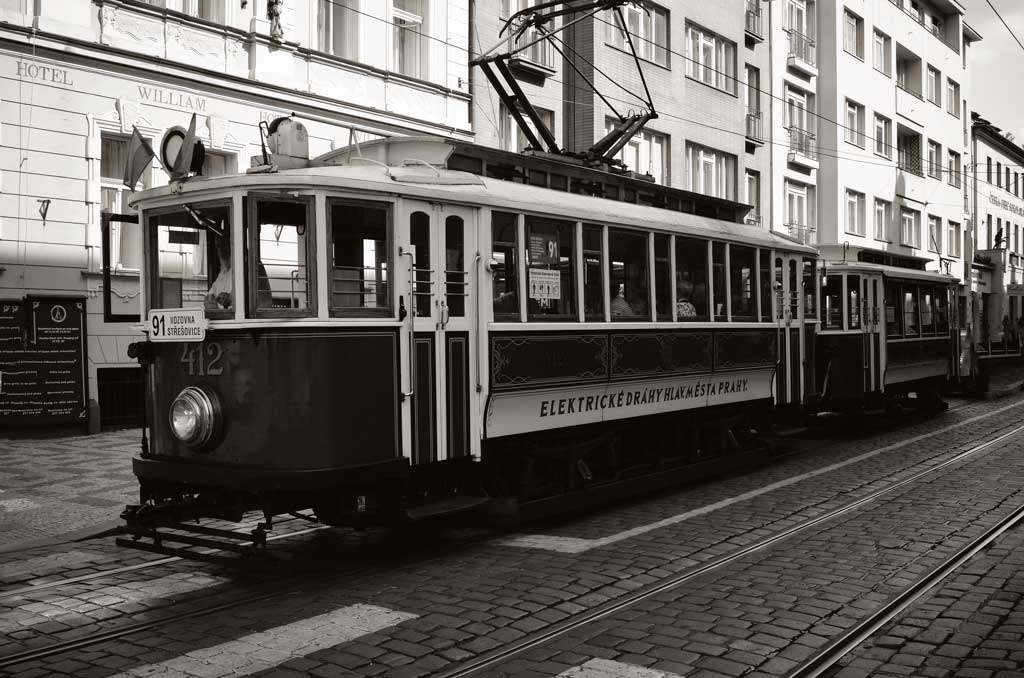 Исторический трамвай в Праге