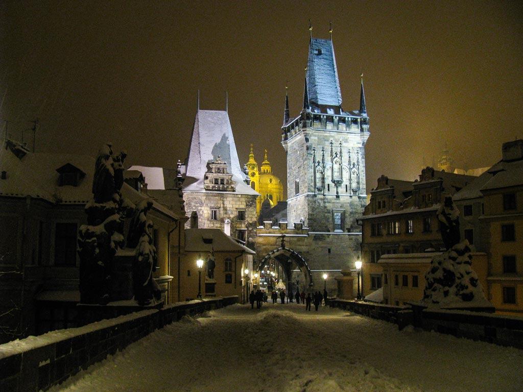 Прага. Малостранская башня Карлова моста