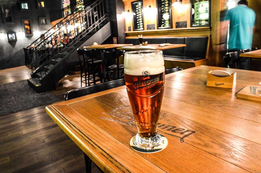 Чешское пиво. Янтарный лагер «Staropramen Granát 11°»