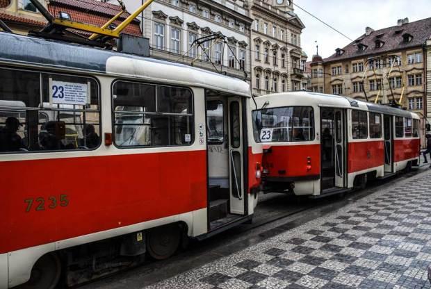 Прага. Трамвай №23