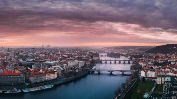 Прага с высоты птичьего полёта