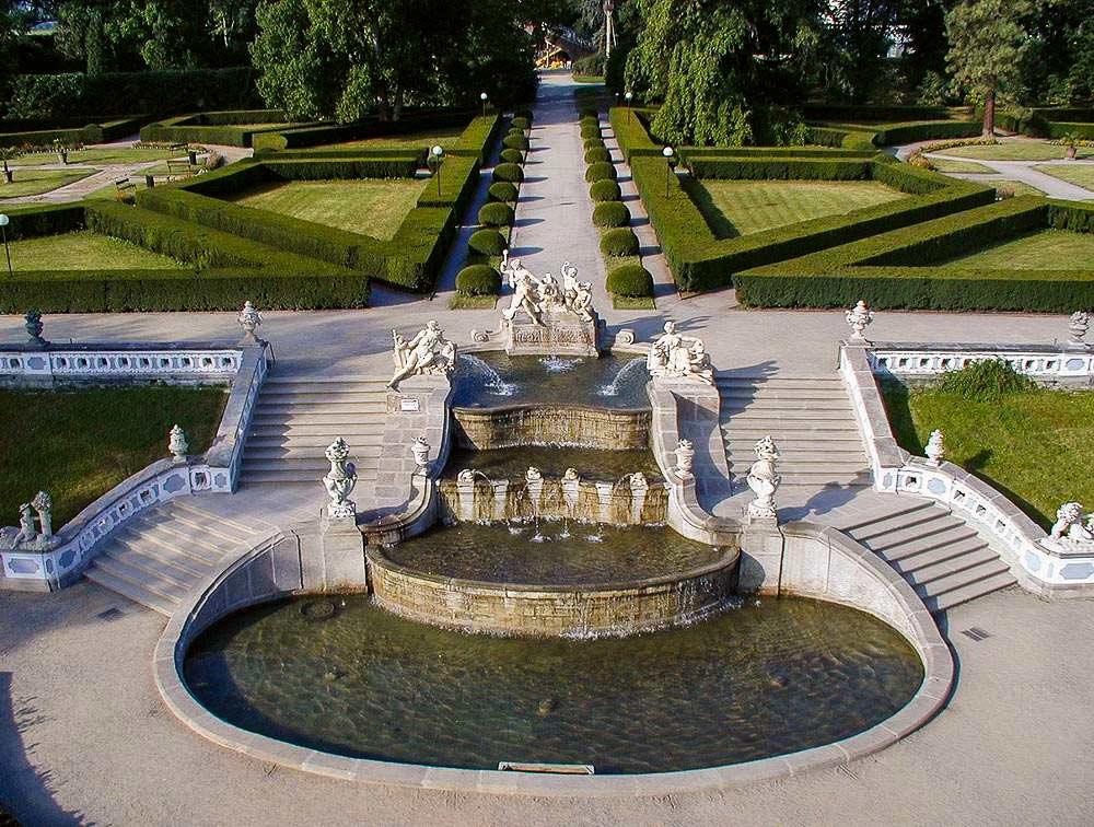 Замок Чески-Крумлов. Замковый парк