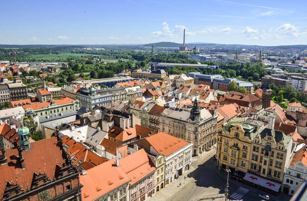 Пльзень. Вид на город с собора Св. Варфоломея