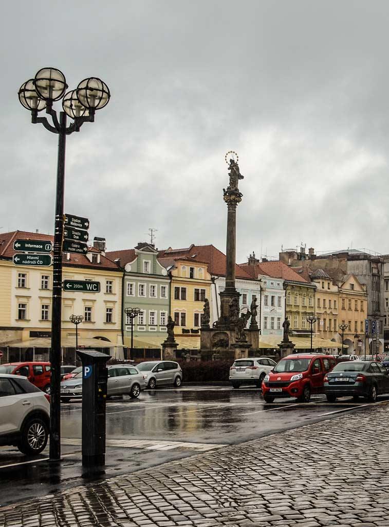 Чумная колонна на Большой площади Градец-Кралове